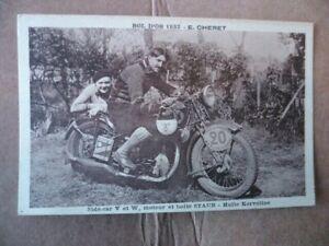 Huile-KERVOLINE-C-P-A-Side-Car-V-et-W-Mot-B-V-STAUB-Bol-D-039-or-1932-E-CHERET