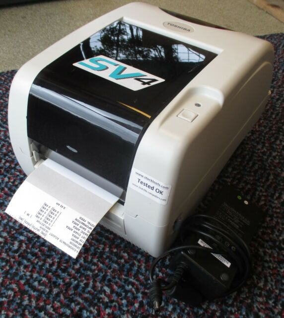 Toshiba B-SV4T USB NETWORK Direct Thermal Transfer Label Printer 2,46 KM + PSU
