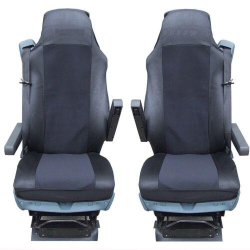 2x camion Coupe pour DAF xf105 xf 105 CF 95xf sitzbezüge housses de protection Noir