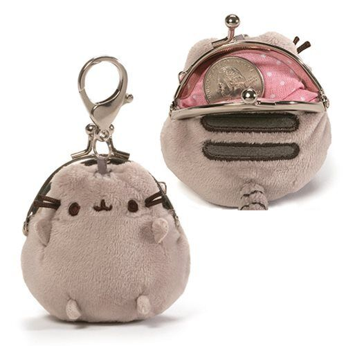 b5f8ff35aab GUND Pusheen Mini Coin Purse Plush Gray 4059095