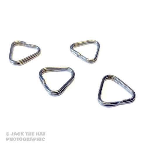 4 x Triangular Split Anillos Para Cámara Correas anillo en D Conectores Para Nikon Etc