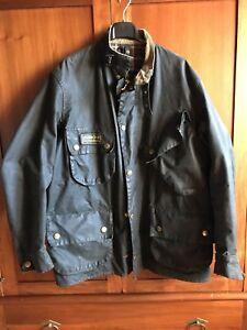 barbour-international-giacca-jacket-waxed-cotton-Taglia-XL-rincerato