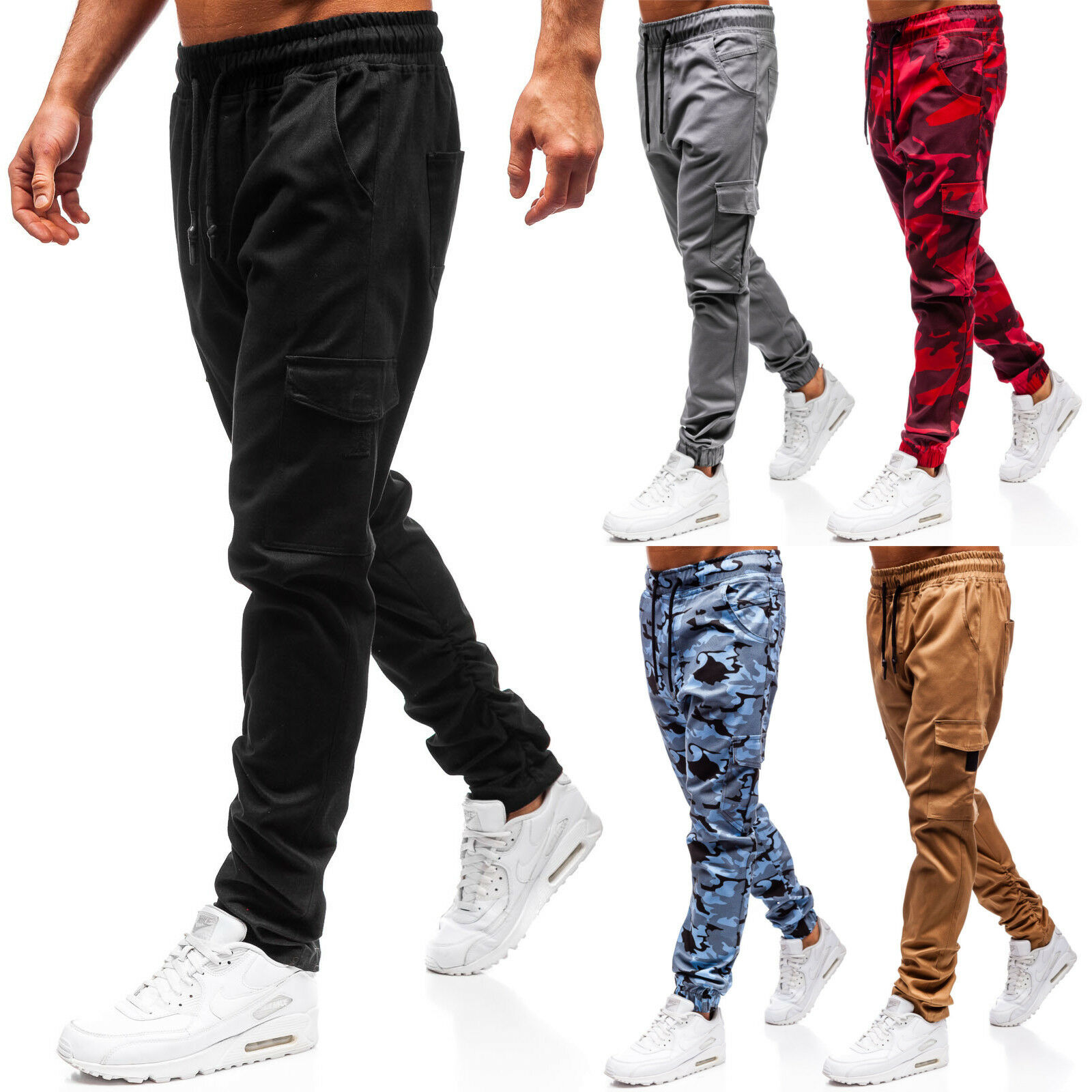 Sweatpants Pants Training Jogging Sports Joggers Trousers Mens Mix BOLF 6F6 Camo