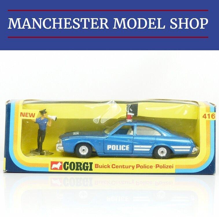 Corgi Toys 416 Buick Siglo Policía Coche & Figura Vintage Tienda Existencias en Caja