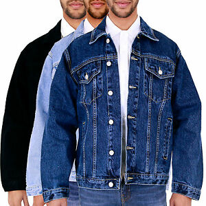 New-Mens-Aztec-Vintage-Denim-Jacket-Classic-Western-Buttoned-All-Big-King-Size