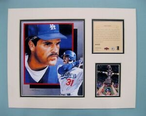 San Diego Padres MIKE PIAZZA 1997 Baseball 11x14 MATTED Kelly Russell Print