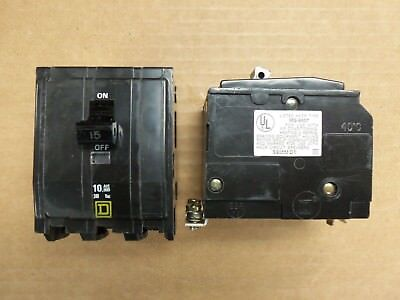 NEW TAKE OUT Square D QOB QOB315 3 Pole 15 amp Circuit Breaker YELLOW BOLT ON