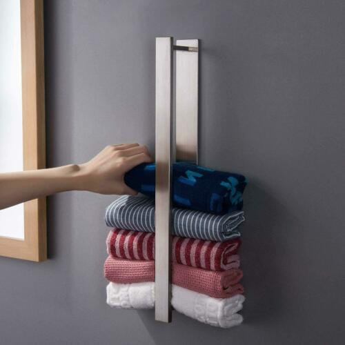 Zunto Towel Holder Without Drilling Guest Towel Holder Stainless Steel Towel Rail