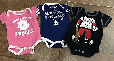 Baby Buy Cheap Mlb Angels/dodgers Baby One Pieces 0/3months Online Discount