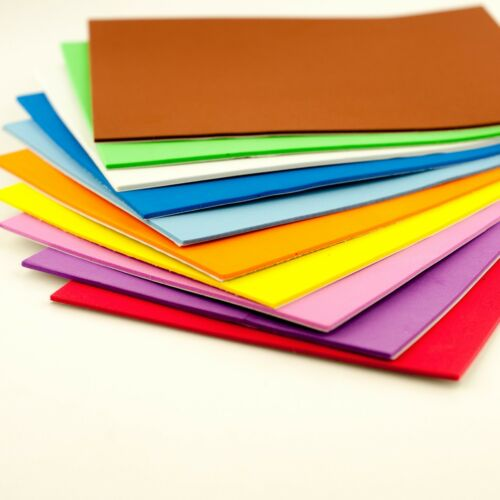 A5 Plain Foam Sheets Self Adhesive For Crafts and Card Making 10 Pack