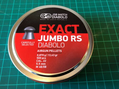 JSB Exact Jumbo RS .22 X500 13.43gn