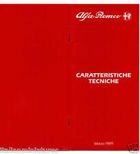 ALFA ROMEO SPRINT 33 Sportwagon SPIDER S4 75 164 specifica opuscolo 1989