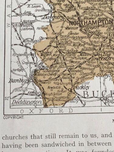 1923 Map Northampton 97 Years Northamptonshire Abington Park St Peters Church