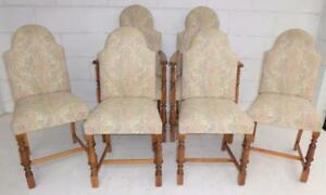 Set Six Oak Upholstered Chairs  Two CarversFour Singles - Rettendon Common Chelmsford, United Kingdom - Set Six Oak Upholstered Chairs  Two CarversFour Singles - Rettendon Common Chelmsford, United Kingdom