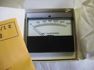 """Yokogawa 2-1/2"""" Panel Meter Gauge 0-300 AC Amps Ammeter Transformer Rated"""