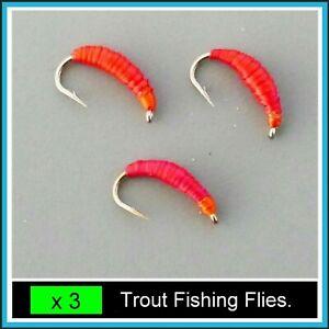 By Arc Fishing Flies Trout Flies DAMSELS Hook sizes 10 or 12 x 3 or 4 Flies