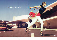 PUBLICITE ADVERTISING 094  2013  LONGCHAMP   collection maroquinerie sac (2p)