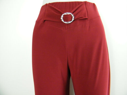 SALOOS STRETCHY TROUSERS WITH A DIAMANTE BUCKLE IN 2 COLOURS 12 14 16 18 20 22