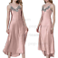 Womens-Ladies-Sexy-Lace-Long-Silk-nightgowns-Stain-Chemise-Sleepwear-Lingerie miniature 14