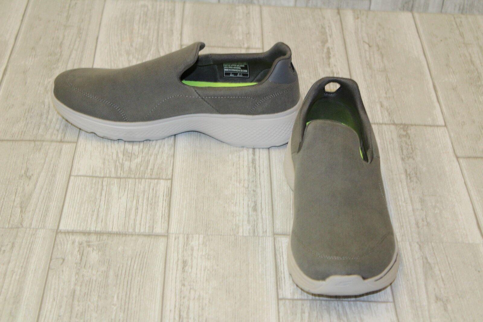 Skechers Goga Max Slip Ons-Men's size 8.5 Grey