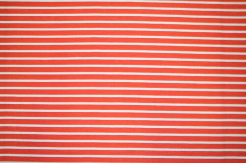 Striped Coral Liverpool Print #75 Double Knit Fabric Poly Lycra Spandex BTY