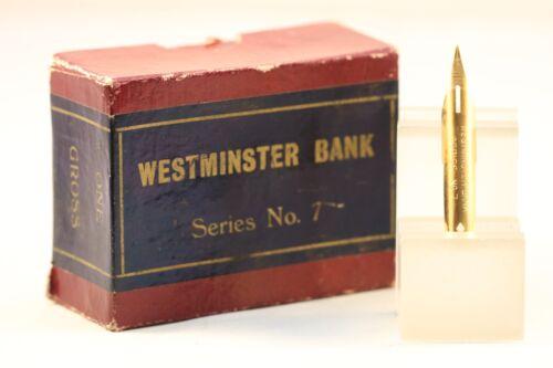7 Gold Plated Dip Pen Nib Vintage Westminster Bank Series No NOS