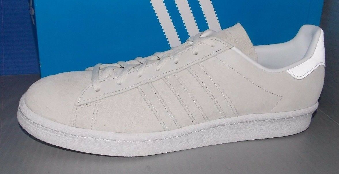 MENS ADIDAS CAMPUS 80S in colors FTW WHITE   FTW WHITE   FTW WHITE SIZE 12