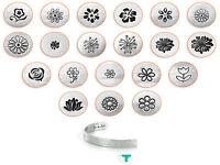 Impressart - Florals Design Metal Jewelry Stamps, 3mm|6mm|9.5mm (select Stamp)