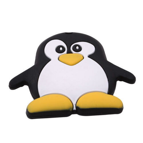 Penguin-shaped Baby Teething Toy Food Grade Silicone Teether Grind Babys Teeth G