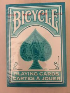 RARE-BICYCLE-TURQUOISE-BACK-DECK-PLAYING-CARDS-RIDER-2017-AQUA-Standard-Poker