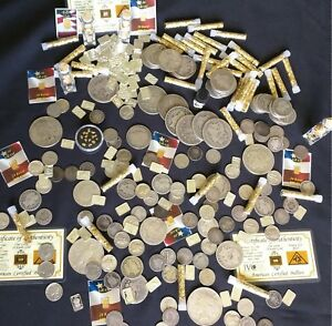 Gold-and-Silver-Estate-Lot-Sale-Old-US-Coins-Bullion-999-Silver-Bars