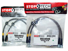 Stoptech Stainless Steel Braided Brake Lines (Front & Rear Set / 44012+44508)