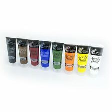 Set Of 8 x 120ml Acrylic Paints for Artists Canvases Picture Art Display