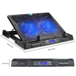 Tecknet 2 Fan Laptop Cooling Pad 12 17 Ultra Quiet Gaming Laptop Cooler Stand 5060449846985 Ebay