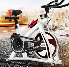Stationary Exercise Bike Indoor Cycling Bicycle Health Fitness Workout - White !