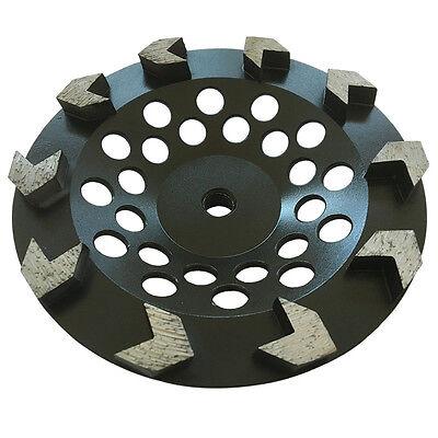 "7/"" J-Seg Grinding Cup #20//25 Diamond 5//8/""-11 Threaded Arbor for Concrete Epoxy"