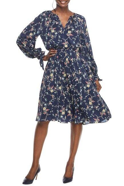 NEW  Gal Meets Glam Bonnie Floral Print Blouson Dress (4)