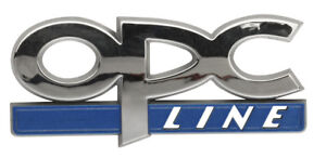 """chrome voiture badge autocollant /""""OPC Line/"""" autocollant emblème bleu Opel d/'arge"""