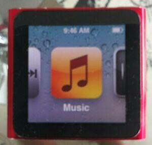 Apple Ipod Nano 6th Generation 8gb Red Limited Edition Ebay