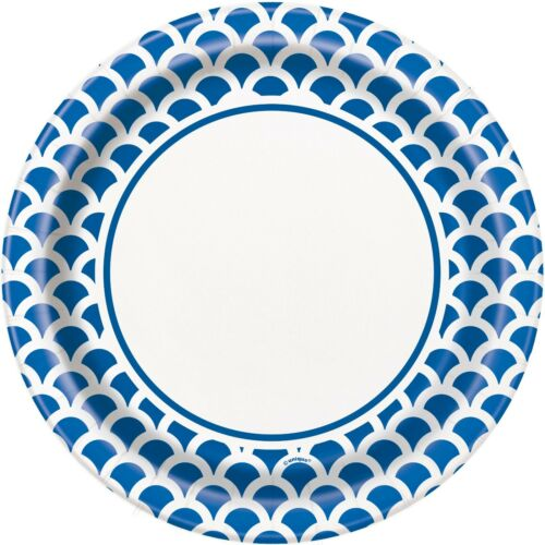 ROYAL BLUE SCALLOP Party Tableware Disposable Birthday Supplies Event Decoration