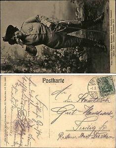 1909-Stempel-DRESDEN-auf-AK-Frau-Direktor-Emma-Grosser-Parade-Nr-ANNENSTRASSE