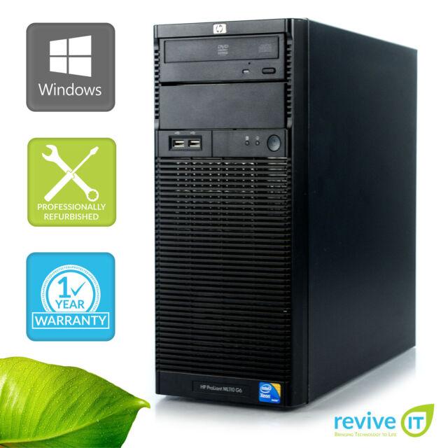 HP ML110 G6 Server Xeon Quad-Core X3430 2.4GHz 4GB 250GB Win 10 Pro 1 Yr Wty