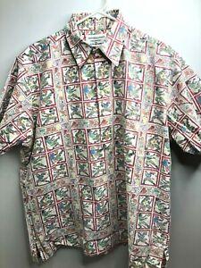Reyn-Spooner-Hawaiian-Pullover-Shirt-Reverse-Sports-Baseball-Football-Large-EUC