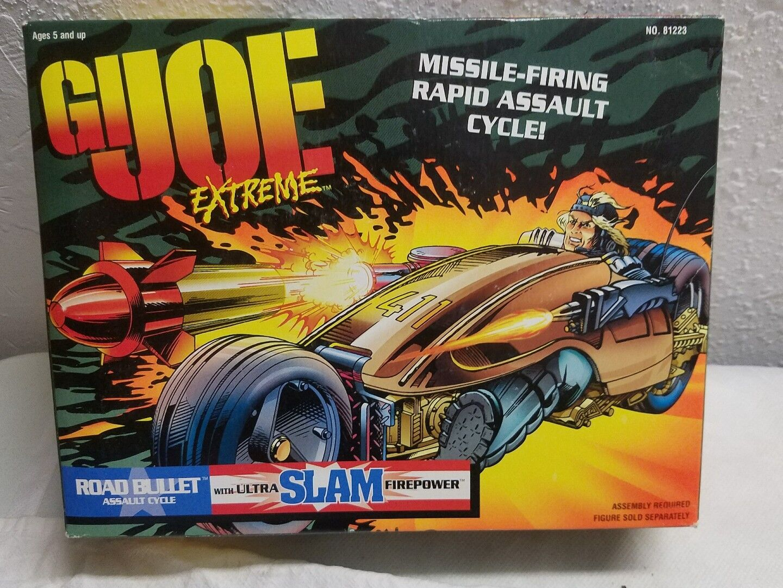 GI Joe Road Bullet Assault Cycle NIB Kenner Missle-Firing NIB 1995