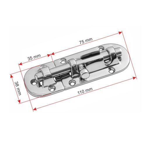 Kugelschnäpper Vorreiber  Fensterriegel Riegelverschluss V4A A4 Edelstahl