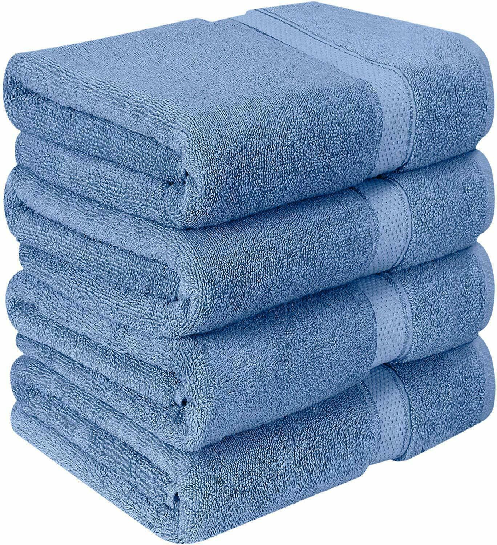 NEW Blue Color SUPER SOFT LUXURY PURE TURKISH 100% COTTON Bath Towels