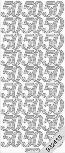 Sticker arco plata nº 1232 número 50