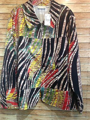 drapers & damons abstract jacket size 2X