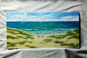Art-oil-HAND-painting10-034-20-034-wood-frame-canvas-seascape-ocean-painting-landscape