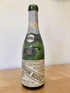Vintage-Antique-1928-G-H-Mumm-Cordon-Rouge-Champagne-10-034-Bottle-13-oz-Empty